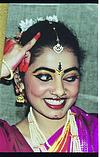 Pose of a Bharatanatyam dancer