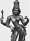A Spectacular Mixed Metal Sculpture of Ardhanarishwara