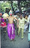 Hanuman with gadha in street procession