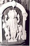 Icon of Dattatreya Carved in Sandalewood