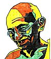 Gandhi in a Rangoli Design