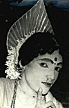 Yakshagana is typically performed by men only. <br> Here, a man dressed as seductress Mohini