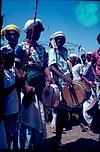 A villagedancers with drums