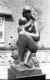Sculptures - Mother and child - at Syracuse campus