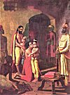 Lord Krishna and Balaram Liberating their Parents from Kansa's Prison