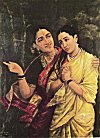 Agony of Draupadi by Ravi Varma