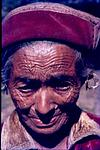 A Old tribal woman lady with cap from kinaur?
