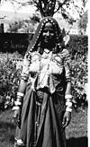 A lambani woman in her traditional dress