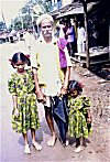 Villager with Grand-daughters