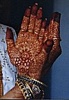 The Painted Hands of a Bride