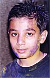A Young Boy on a Holi Day