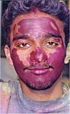 A Participant on Holi Festival Day