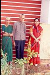 Prof. and Mis. Dikshit with Jyo in 1999, at their house