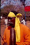 Old Artist with Tamate, in Dharwad, 1999