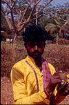 A young artist cymbal in Dharwad