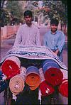 Carpet sellers on road
