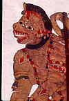 Anjaneya in leather puppet
