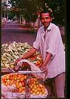 Vegetable selling on a cycle