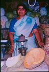 Vegetable seller with a gas light