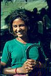 A Himalayan working lass with sickle