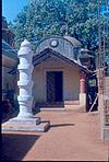 A tiny temple in Goa with a small dipastamba
