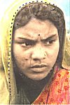 Tribal girl: many tribes follow the Hindu dressing customs and lifestyles