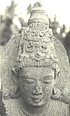 Carved head of a Dwarapalaka (doorman)