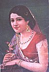 Indian woman � from a picture postcard