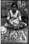 Young flower seller girl, Mangeshi temple, GAO, 1986