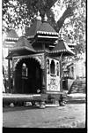 Ceremonial palanquin for deity in procession, Goa, 1986