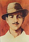 Painting of Bhagat Singh - from a popular childrens book