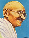 Mahatma Gandhi from a popular Picture Postcard