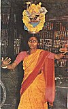 A Devadasi (temple woman) performing to please goddess Yallamma
