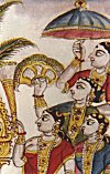 A group of female servants<br> Mysore traditional painting