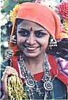 Girl from Himachal in a festive mood