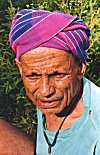 Colorful Rumal of a Farmer