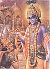 Warrior Arjuna Seeks Lord Krishna's Advice
