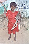 A child is sent fetching fire-wood for cooking