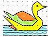 Duck in a Rangoli Pattern