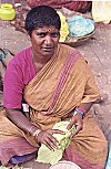 Woman Selling Paan Leaves