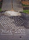 They welcomed year 2000 with suitable rangoli.