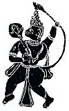Hanuman in Kavi Art