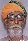 Colorful Turban of an Elderly Merchant