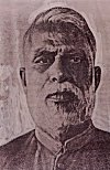 Portrait of D.D. Kosambi, a great Sanskrit and Buddhist Scholar