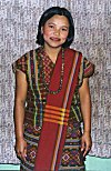 A Young Girl from Mizoram in her Traditional Dress
