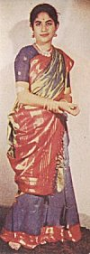 Bangalore silk saree.