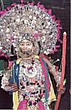 Chhau Dance -- Uncovered body parts are smeared with dark colors