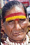 Painted Face of a Devotee