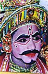 Pained Face of a Bayalata Dance-Thearer Artist