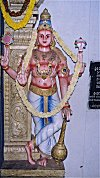 Painted Doorman at Krishna Temple